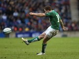 Ireland's Paddy Jackson opens the scoring against Scotland during the Six Nations game on February 24, 2013