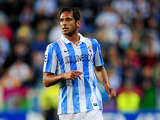 Malaga's Roque Santa Cruz in action on October 24, 2012