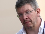 Mercedes team principle Ross Brawn at the Bahrain Grand Prix on March 11, 2010