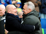 Crystal Palace manager Ian Holloway and Sheffield Wednesday manager Dave Jones before kick off on February 23, 2013