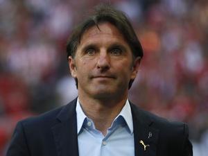 Stuttgart boss Bruno Labbadia on the touchline against Bayern Munich on April 28, 2012