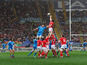 Wales win a line out during their Six Nations match against Italy on February 23, 2013