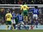 Norwich's Kei Kamara equalises against Everton on February 23, 2013
