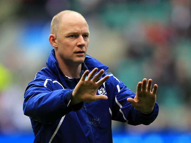 Scotland's kicking coach Duncan Hodge on March 13, 2011