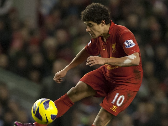 Liverpool's Philippe Coutinho in action against West Brom on February 11, 2013