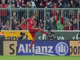 Bayern Munich's Jerome Boateng celebrates after scoring his side's third goal in their match with Fortuna Duesseldorf on March 9, 2013