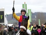 Jockey Brendan Powell after winning the JLT Specialty Handicap Chase during day one of the 2013 Cheltenham Festival on March 12, 2013
