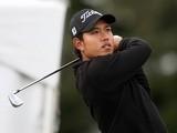 Thai golfer Chinnarat Phadungsil in action on August 29, 2009