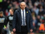 Reading's caretaker boss Eamonn Dolan on the touchline at Old Trafford on March 16, 2013
