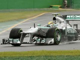 Mercedes driver Lewis Hamilton during the Australian Formula One Grand Prix on March 17, 2013