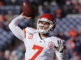 Kansas City Cheifs quarterback Matt Cassel throws the ball prior to a match on December 30, 2012