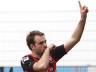 Bournemouth's Brett Pitman celebrates scoring the opener againsy Bury on March 23, 2013