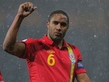 Wales' Ashley Williams celebrates the win over Scotland on March 22, 2013