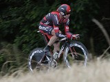 Cadel Evans in action during the 19th stage of the Tour de France on July 21, 2013