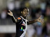 Vasco da Gama's Dede celebrates scoring a goal on November 9, 2011