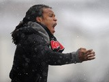 Barnet player manager Edgar Davids on the touchline during the match against Cheltenham on March 23, 2013