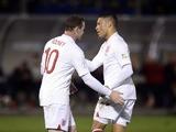 England's Alex Oxlade-Chamberlain celebrates scoring against San Marino on March 22, 2013