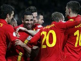 Wales player Hal Robson-Kanu celebrates scoring against Scotland during their World Cup qualifying match on March 22, 2013