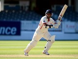 Lancashire's Ashwell Prince plays a shot during hid side's match against Middlesex on September 7, 2012