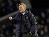 Everton boss David Moyes on the touchline during the match against Stoke on March 30, 2013