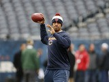 Chicago Bears quarterback Jason Campbell throws the ball during a warm up on December 16, 2012