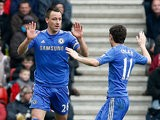 John Terry is congratulated by team mate Oscar after scoring the equa