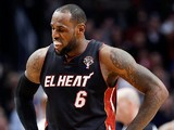 Miami Heat forward LeBron James in action on March 27, 2013