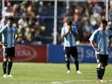 Argentina's players react after Bolivia take the lead against them on March 26, 2013