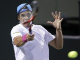 Tommy Haas during his match with Novak Djokovic at the Sony Ericsson Open tennis tournament on March 26, 2013