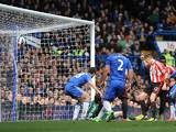 Cesar Azpilicueta scores an own goal to give Sunderland the lead on April 7, 2013