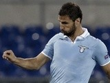 Lazio midfielder Lorik Cana in action against Maribor on October 5, 2012