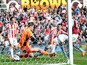 Aston Villa's Gabriel Agbonlahor beats Stoke City goalkeeper Asmir Begovic to score their first goal during the Premier League match on April 6, 2013
