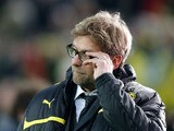 Dortmund head coach Juergen Klopp prior to his side's match against Malaga on April 9, 2013