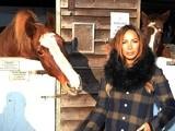 Popstar Leona Lewis at Hopefield Animal Sanctuary Winter Wonderland on December 2, 2012
