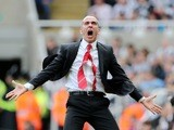 Sunderland boss Paulo Di Canio celebrates a goal by Stephane Sessegnon against Newcastle on April 14, 2013