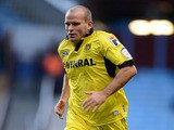 Tranmere Rover's Andy Robinson during the League Cup clash with Aston Villa on August 28, 2012