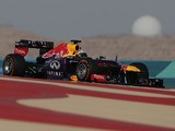 Red Bull driver Sebastian Vettel of Germany steers his car to win the Bahrain Formula One Grand Prix on April 21, 2013