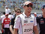 McLaren Mercedes driver Jenson Button prior to the start of the Bahrain Formula One Grand Prix on April 21, 2013