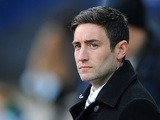 Oldham boss Lee Johnson on the touchline on April 9, 2013