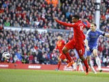 Liverpool's Daniel Sturridge scores in the Premier League clash with Chelsea on April 21, 2013