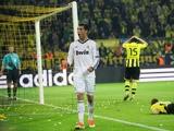 Real Madrid's Cristiano Ronaldo celebrates after scoring in the Champions League semi final match against Borussia Dortmund on April 24, 2013