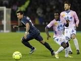 PSG's Ezequiel Lavezzi in action against Evian on April 28, 2013