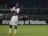 Ghana's John Boye reacts to defeat against Zambia on February 8, 2012
