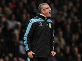 Aston Villa manager Paul Lambert during his side's match with Manchester United on April 22, 2013