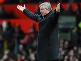 Manchester United manager Sir Alex Ferguson during his side's match against Aston Villa on April 22, 2013