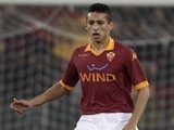 Roma defender Marquinhos in action against Cagliari on February 1, 2013