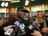 Jets QB David Garrard talks to media on May 2, 2013