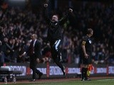 Villa boss Paul Lambert does his best Paulo Di Canio impression against Sunderland on April 29, 2013
