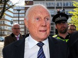 Veteran BBC broadcaster Stuart Hall leaves Preston Crown Court on May 2, 2013