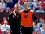 Manchester United's David Beckham with manager Alex Ferguson